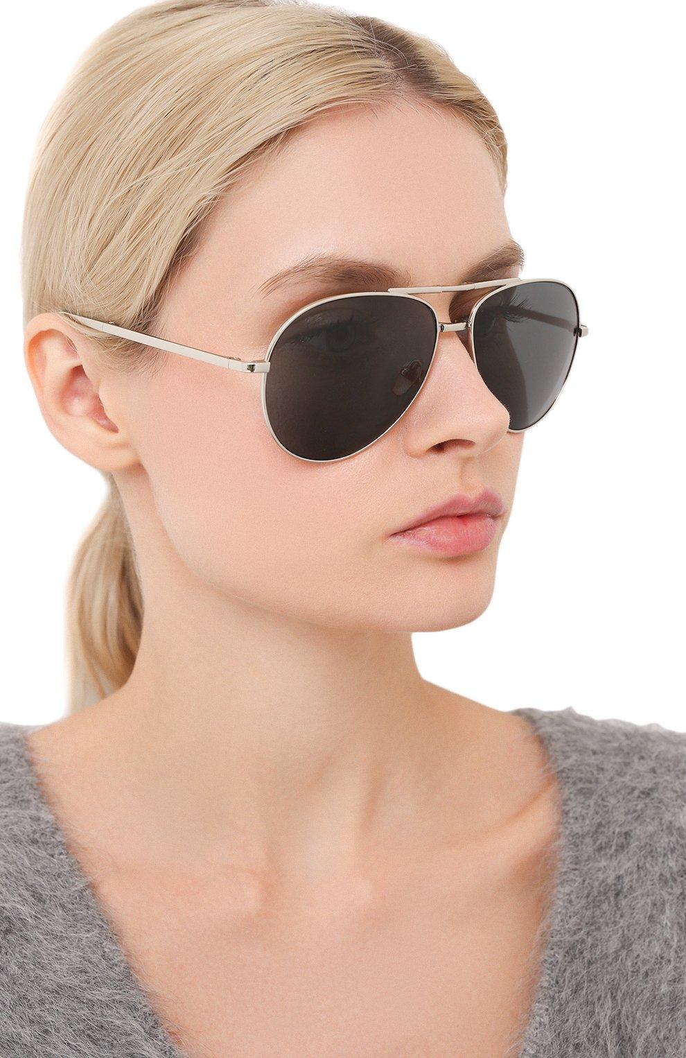 Женские солнцезащитные очки LINDA FARROW серебряного цвета, арт. LFL518C5 SUN | Фото 2