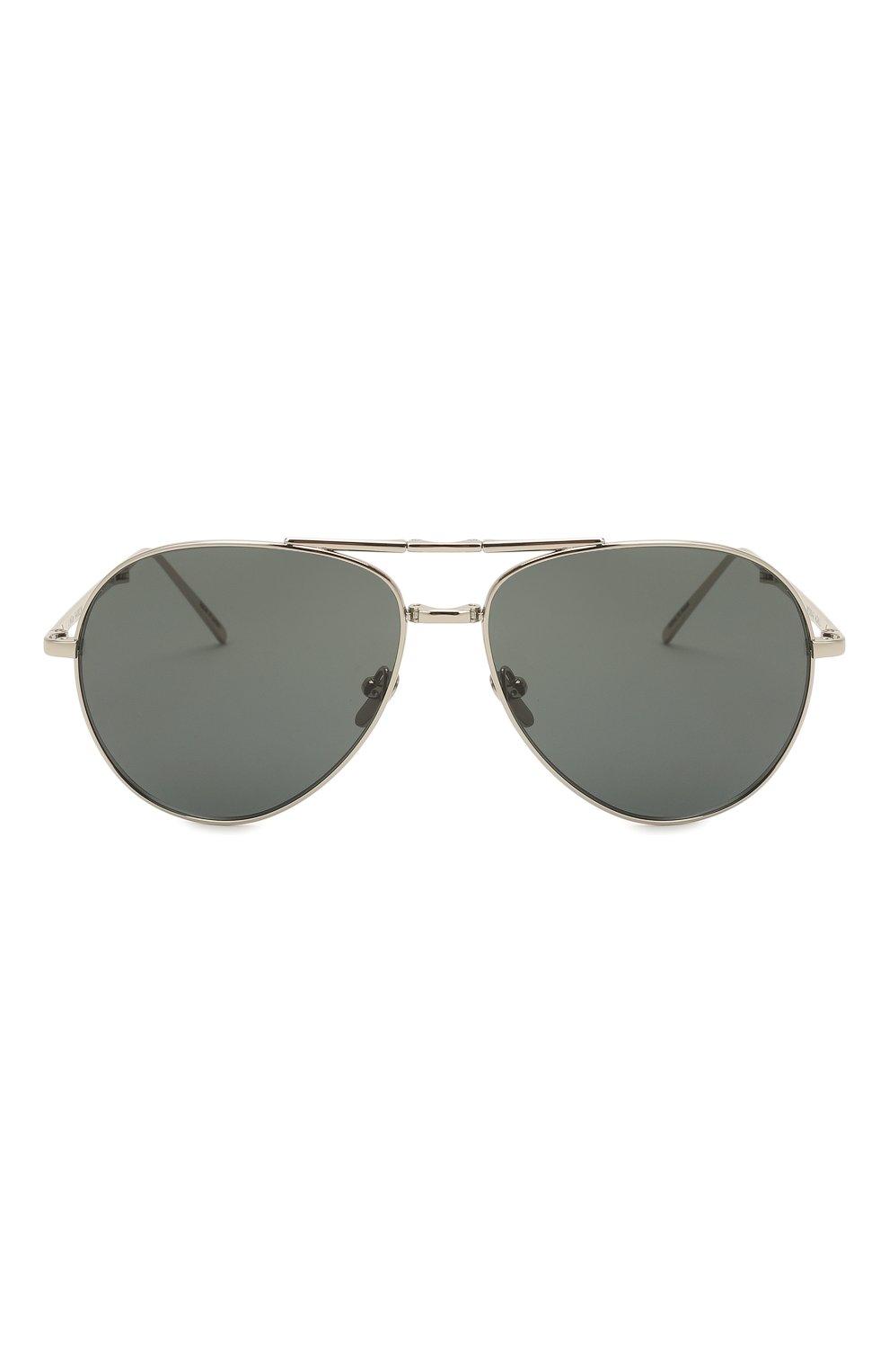 Женские солнцезащитные очки LINDA FARROW серебряного цвета, арт. LFL518C5 SUN | Фото 3