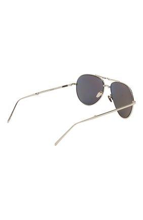 Женские солнцезащитные очки LINDA FARROW серебряного цвета, арт. LFL518C5 SUN | Фото 4