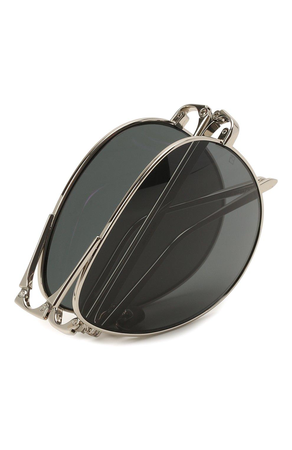 Женские солнцезащитные очки LINDA FARROW серебряного цвета, арт. LFL518C5 SUN | Фото 5