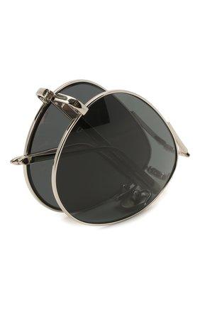 Женские солнцезащитные очки LINDA FARROW серебряного цвета, арт. LFL518C5 SUN | Фото 6