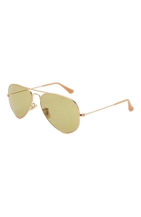 Женские солнцезащитные очки RAY-BAN золотого цвета, арт. 3025-90644C | Фото 1