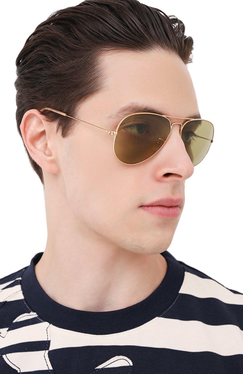 Женские солнцезащитные очки RAY-BAN золотого цвета, арт. 3025-90644C | Фото 3