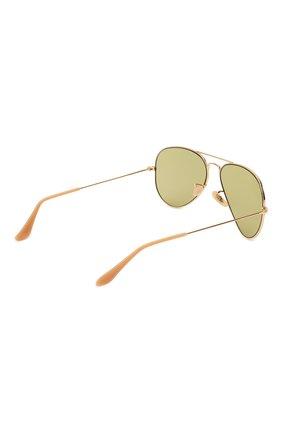 Женские солнцезащитные очки RAY-BAN золотого цвета, арт. 3025-90644C | Фото 5