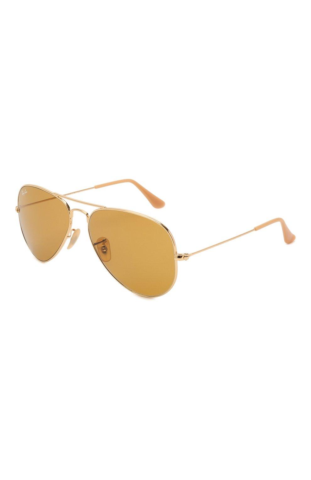 Женские солнцезащитные очки RAY-BAN золотого цвета, арт. 3025-90644I   Фото 1