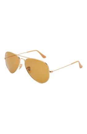 Женские солнцезащитные очки RAY-BAN золотого цвета, арт. 3025-90644I | Фото 1