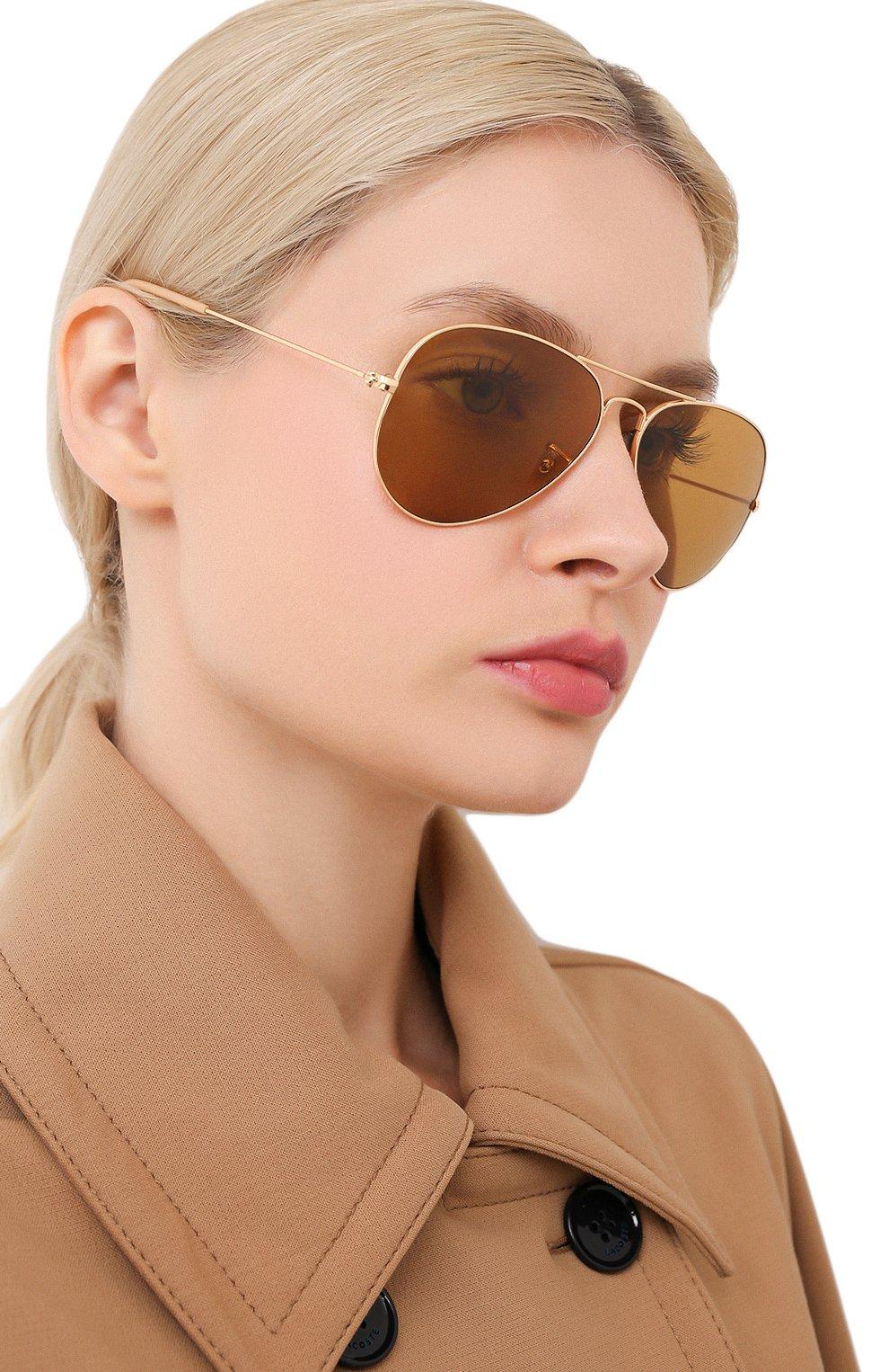 Женские солнцезащитные очки RAY-BAN золотого цвета, арт. 3025-90644I   Фото 2