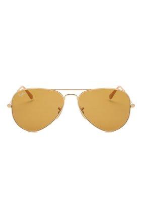 Женские солнцезащитные очки RAY-BAN золотого цвета, арт. 3025-90644I   Фото 4