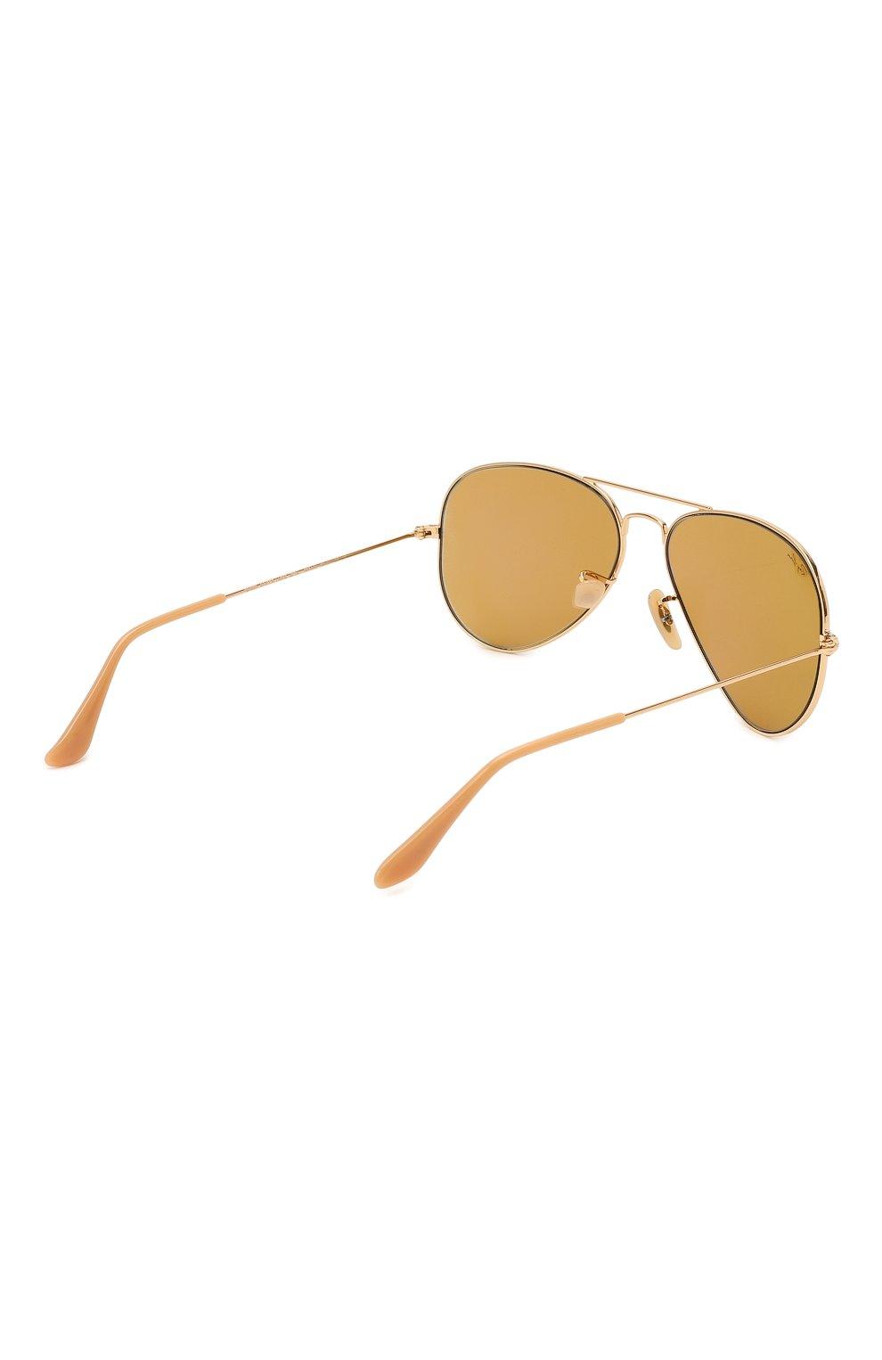 Женские солнцезащитные очки RAY-BAN золотого цвета, арт. 3025-90644I   Фото 5