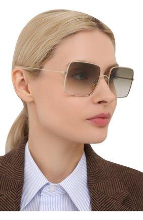 Женские солнцезащитные очки OLIVER PEOPLES золотого цвета, арт. 1236S-50358E   Фото 2