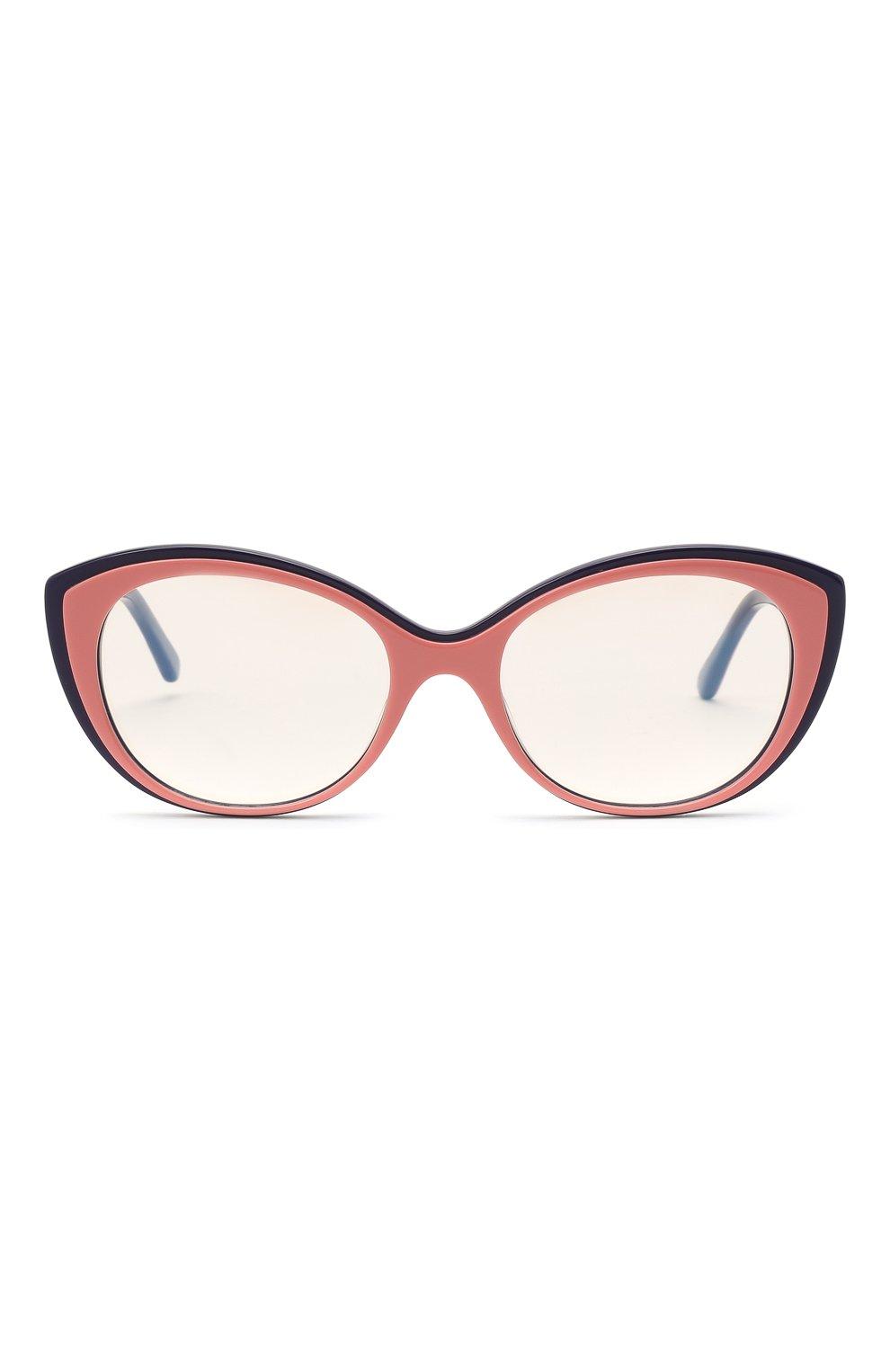 Детские оправа CAROLINE ABRAM розового цвета, арт. 10+14=24 1016   Фото 2 (Тип очков: Оправа; Очки форма: Cat-eye, Бабочка)