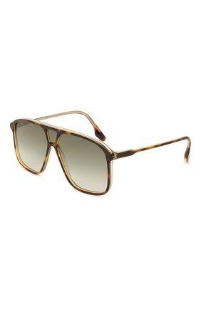 Женские солнцезащитные очки VICTORIA BECKHAM коричневого цвета, арт. S156 C04 | Фото 1