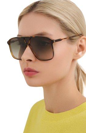 Женские солнцезащитные очки VICTORIA BECKHAM коричневого цвета, арт. S156 C04 | Фото 2