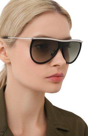 Женские солнцезащитные очки VICTORIA BECKHAM черного цвета, арт. S155 C01   Фото 2