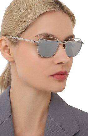 Женские солнцезащитные очки KUB0RAUM серебряного цвета, арт. H71 SISI | Фото 2