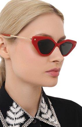 Женские солнцезащитные очки MYKITA красного цвета, арт. GAPI/801   Фото 2