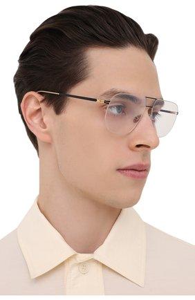 Мужские оправа MYKITA черного цвета, арт. HIR0T0/056 | Фото 2 (Оптика Гендер: оптика-мужское; Тип очков: Оправа; Очки форма: Прямоугольные)