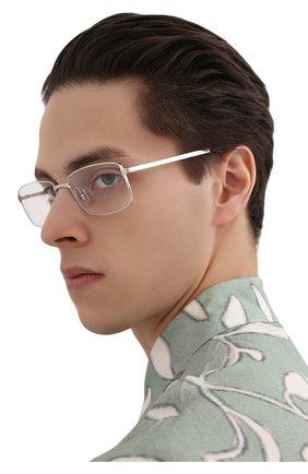 Мужские оправа CARTIER серебряного цвета, арт. CT0204 006 | Фото 2 (Оптика Гендер: оптика-мужское; Тип очков: Оправа; Очки форма: Прямоугольные)