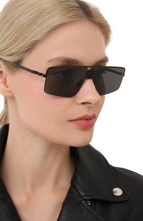 Женские солнцезащитные очки MYKITA черного цвета, арт. S0Y/BLACK/PITCHBLACK | Фото 2 (Тип очков: С/з; Очки форма: Прямоугольные; Оптика Гендер: оптика-унисекс)