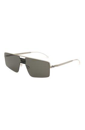 Женские солнцезащитные очки MYKITA серебряного цвета, арт. S0Y/PITCHBLACK/MSL | Фото 1 (Оптика Гендер: оптика-унисекс; Тип очков: С/з; Очки форма: Прямоугольные)