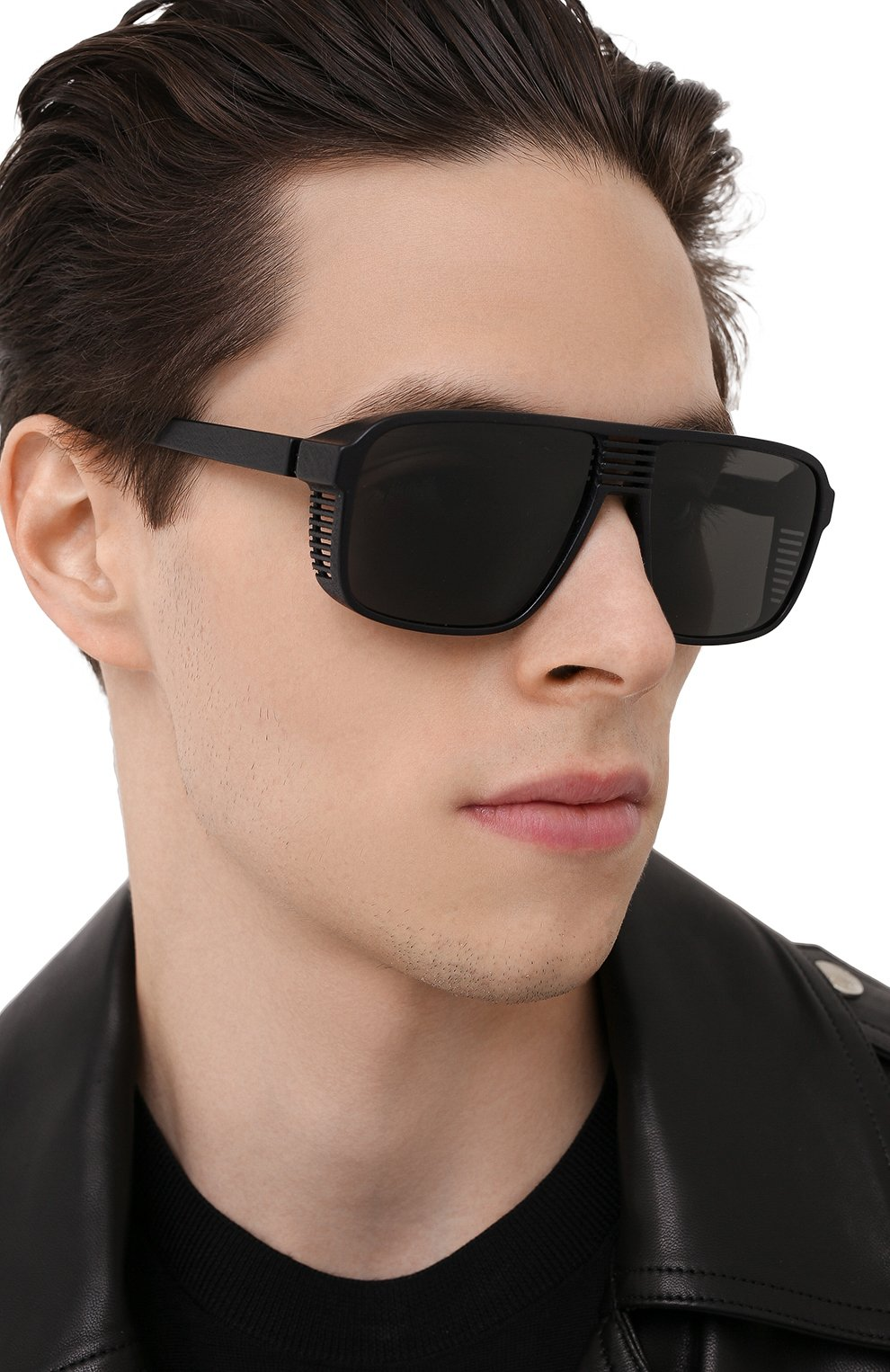 Мужские солнцезащитные очки MYKITA MYLON черного цвета, арт. CANY0N/PITCH BLACK | Фото 2