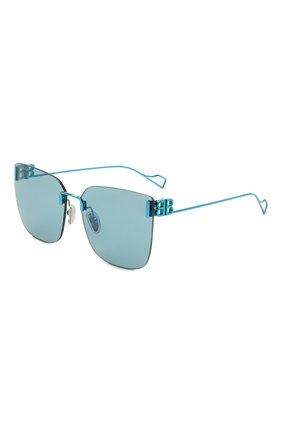 Женские солнцезащитные очки BALENCIAGA бирюзового цвета, арт. BB0112SA 003 | Фото 1