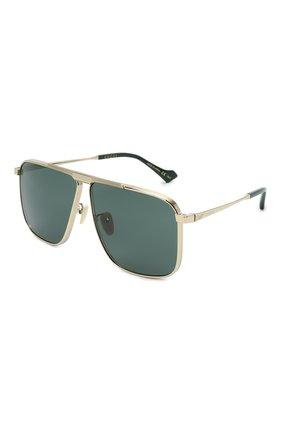 Мужские солнцезащитные очки GUCCI золотого цвета, арт. GG0840S 002 | Фото 1