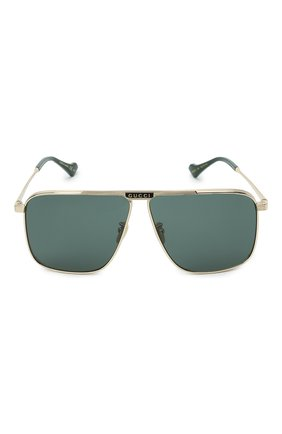 Мужские солнцезащитные очки GUCCI золотого цвета, арт. GG0840S 002 | Фото 3