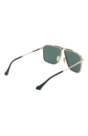 Мужские солнцезащитные очки GUCCI золотого цвета, арт. GG0840S 002 | Фото 4
