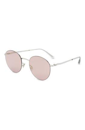 Женские солнцезащитные очки MYKITA серебряного цвета, арт. T0M0MI/SHINYSILVER/P0WDER FLASH 051 | Фото 1 (Оптика Гендер: оптика-женское; Тип очков: С/з; Очки форма: Круглые)