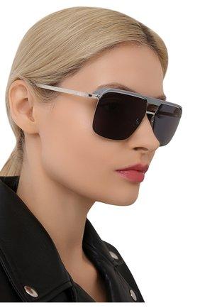 Женские солнцезащитные очки MYKITA серого цвета, арт. ML03/PITCHBLACK/BLACK/LEICA BLACK P0LARIZED | Фото 2 (Оптика Гендер: оптика-унисекс; Тип очков: С/з; Очки форма: Прямоугольные)