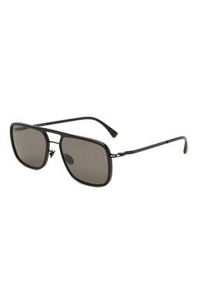 Женские солнцезащитные очки MYKITA черного цвета, арт. ELGARD/BLACK/BLACK/GREY S0LID 909 | Фото 1 (Оптика Гендер: оптика-унисекс; Тип очков: С/з; Очки форма: Прямоугольные)