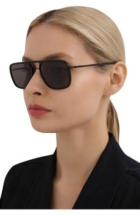 Женские солнцезащитные очки MYKITA черного цвета, арт. ELGARD/BLACK/BLACK/GREY S0LID 909 | Фото 2 (Оптика Гендер: оптика-унисекс; Тип очков: С/з; Очки форма: Прямоугольные)