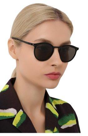 Женские солнцезащитные очки MYKITA черного цвета, арт. DD2.3/BLACK/BLACK/GREY S0LID 909 | Фото 2 (Оптика Гендер: оптика-унисекс; Тип очков: С/з; Очки форма: Круглые)