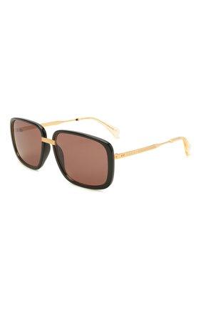 Женские солнцезащитные очки GUCCI черного цвета, арт. GG0787S 002   Фото 1