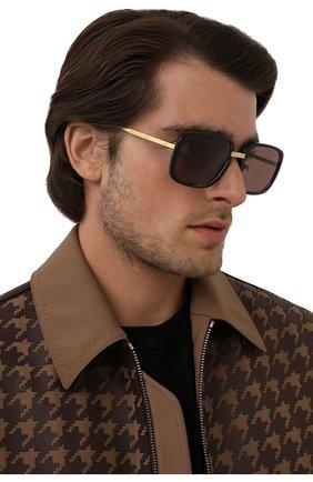Женские солнцезащитные очки GUCCI черного цвета, арт. GG0787S 002   Фото 2