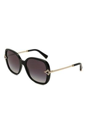 Женские солнцезащитные очки BVLGARI черного цвета, арт. 8217B-501/8G   Фото 1