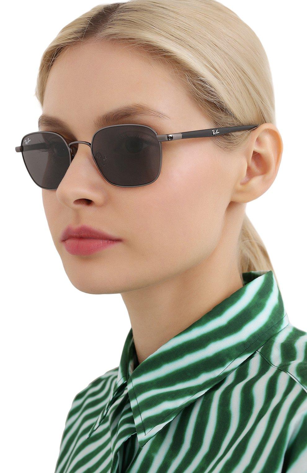 Женские солнцезащитные очки RAY-BAN черного цвета, арт. 3664-004/B1   Фото 2