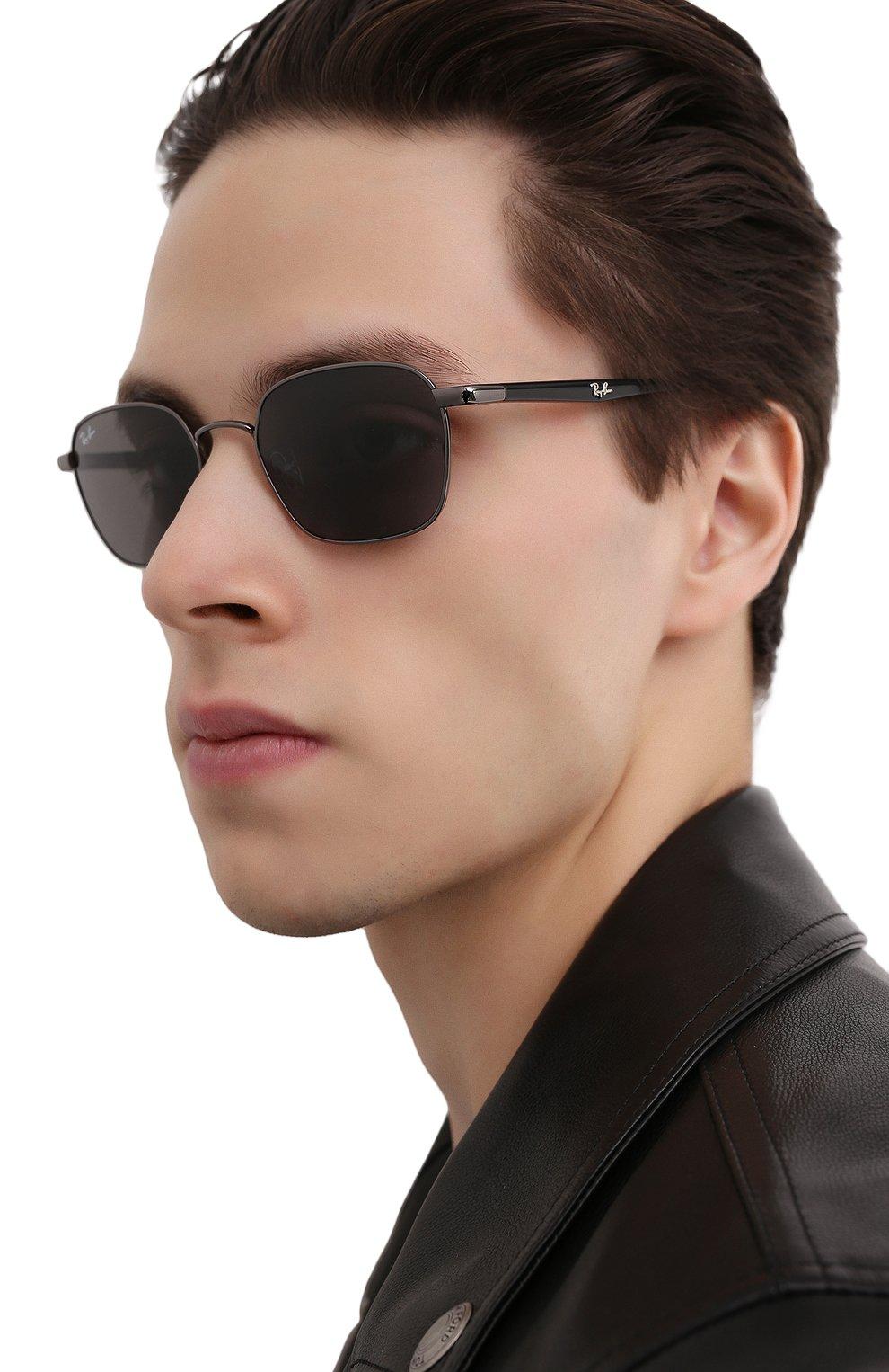 Женские солнцезащитные очки RAY-BAN черного цвета, арт. 3664-004/B1   Фото 3