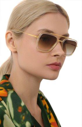 Женские солнцезащитные очки DITA золотого цвета, арт. FLIGHT.006/7806L | Фото 2