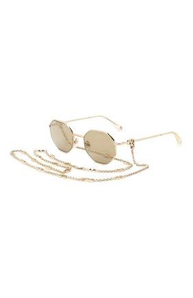 Женские солнцезащитные очки и цепочка VALENTINO золотого цвета, арт. 2040-30035A | Фото 1