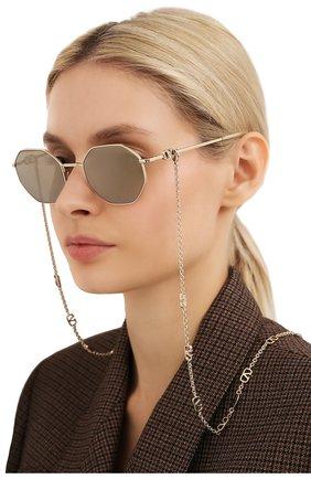 Женские солнцезащитные очки и цепочка VALENTINO золотого цвета, арт. 2040-30035A | Фото 2
