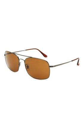 Мужские солнцезащитные очки RAY-BAN коричневого цвета, арт. 3611-004/33 | Фото 1