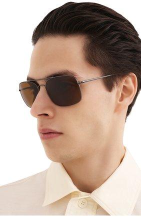 Мужские солнцезащитные очки RAY-BAN коричневого цвета, арт. 3611-004/33 | Фото 2