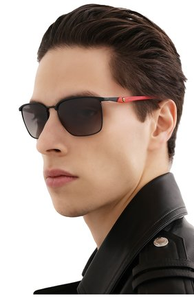 Мужские солнцезащитные очки RAY-BAN черного цвета, арт. 3673M-F04111 | Фото 2