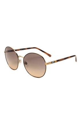 Женские солнцезащитные очки BURBERRY коричневого цвета, арт. 3094-1257G9   Фото 1