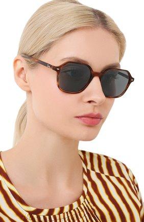 Женские солнцезащитные очки RAY-BAN коричневого цвета, арт. 2194-954/62 | Фото 2