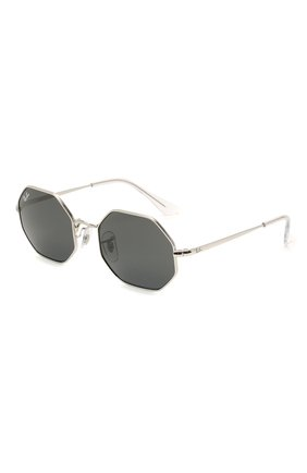 Детские солнцезащитные очки RAY-BAN серебряного цвета, арт. 9549S-212/87 | Фото 1