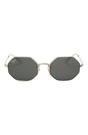 Детские солнцезащитные очки RAY-BAN серебряного цвета, арт. 9549S-212/87 | Фото 2