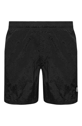Мужские плавки-шорты STONE ISLAND темно-серого цвета, арт. 7415B0943   Фото 1